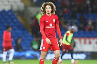 Ethan Ampadu of Wales prior to kick off of the International Friendly match between Wales and Panama at The Cardiff City Stadium, Wales, UK. Tuesday 14 November 2017