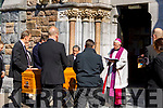 Bishop Ray Brown, Bishop of Kerry officiating at the Funeral of the Very Reverend Michael Canon Fleming P.P. in Killorglin on Tuesday.