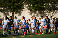 Seattle, WA - Sunday, May 21, 2017: Seattle Reign FC and Orlando Pride  during a regular season National Women's Soccer League (NWSL) match between the Seattle Reign FC and the Orlando Pride at Memorial Stadium.
