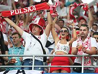 Polnische Fans feiern siegessicher - 19.06.2018: Polen vs. Senegal, Gruppe H, Spartak Stadium Moskau