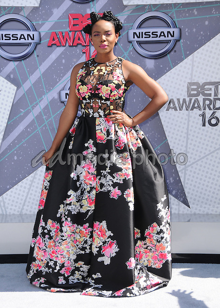 26 June 2016 - Los Angeles. Yemi Alade. Arrivals for the 2016 BET Awards held at the Microsoft Theater. Photo Credit: Birdie Thompson/AdMedia