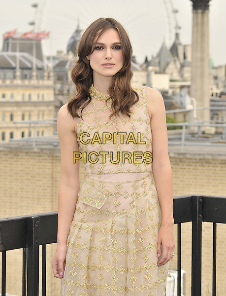 LONDON, ENGLAND - JULY 02: Keira Knightley attends the &quot;Begin Again&quot; press photocall on the rooftop of Picturehouse Cinemas Ltd., St Vincent House, Orange St., on Wednesday July 02, 2014 in London, England, UK.<br /> CAP/CAN<br /> &copy;Can Nguyen/Capital Pictures
