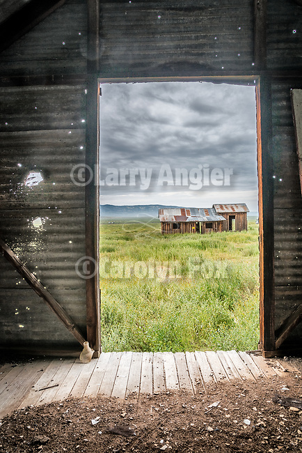 Door, Abandoned farm, Van Matre Ranch, Carrizo Plain, San Luis Obispo County, Calif.
