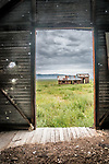 Door, Abandoned farm, Van Matre Ranch, Carrizo Plain, San Luis Obispo County, Calif.