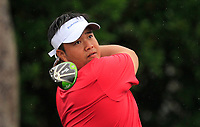 Kiradech Aphibarnrat (Asia) on the 9th tee during the Friday Foursomes of the Eurasia Cup at Glenmarie Golf and Country Club on the 12th January 2018.<br /> Picture:  Thos Caffrey / www.golffile.ie