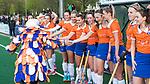 BLOEMENDAAL  - Hockey -  finale KNHB Gold Cup dames, Bloemendaal-HDM . Bloemendaal wint na shoot outs. line up met Missy Mus.   COPYRIGHT KOEN SUYK