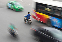 People and everyday life in the streets of Hanoi, Vietnam