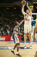 Real Madrid´s Andres Nocioni during 2014-15 Euroleague Basketball match between Real Madrid and Anadolu Efes at Palacio de los Deportes stadium in Madrid, Spain. December 18, 2014. (ALTERPHOTOS/Luis Fernandez) /NortePhoto /NortePhoto.com