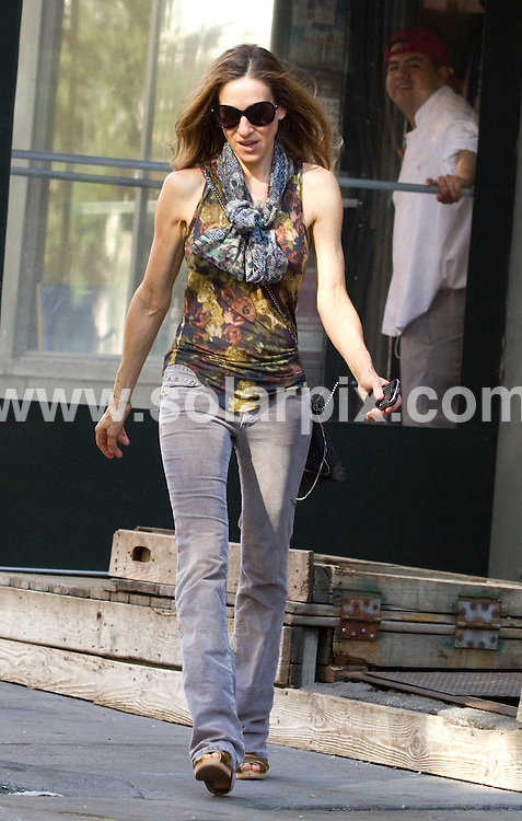 **ALL ROUND PICTURES FROM SOLARPIX.COM**.**SYNDICATION RIGHTS FOR UK, AUSTRALIA, DENMARK, PORTUGAL, S. AFRICA, SPAIN & DUBAI (U.A.E) & ASIA (EXCLUDING JAPAN) ONLY**.Sarah Jessica Parker and son James Wilkie Broderick Sighted in the West Village of New York on April 8, 2010.This pic:   Sarah Jessica Parker.JOB REF:   11054  PHZ/Mayer    DATE:   08.04.10.**MUST CREDIT SOLARPIX.COM OR DOUBLE FEE WILL BE CHARGED**.**MUST NOTIFY SOLARPIX OF ONLINE USAGE**.**CALL US ON: +34 952 811 768 or LOW RATE FROM UK 0844 617 7637**