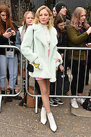 Clara Paget<br /> arrives for the Topshop Unique AW17 show as part of London Fashion Week AW17 at Tate Modern, London.<br /> <br /> <br /> &copy;Ash Knotek  D3232  19/02/2017