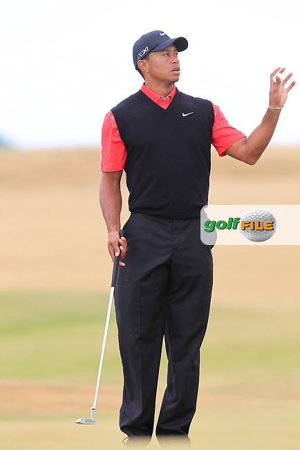 Tiger WOODS (USA) during round 4 of  The 142th Open Championship Muirfield, Gullane, East Lothian, Scotland 21/7/2013<br /> Picture Eoin Clarke www.golffile.ie: