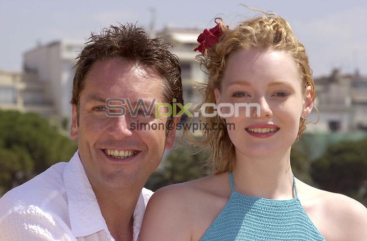 Pix:Ben Duffy/SWpix...54th Cannes Film Festival 2001...13/05/2001..COPYRIGHT PICTURE>>SIMON WILKINSON..Brian Conley of 'The Grimleys' and  and Kelly Harrison of 'Casualty' appear at a photocall to promote their new film 'Dream', here at the 54th Cannes Film