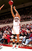 Lauren St. Clair during the 1999-2000 women's basketball season at Maples Pavilion in Stanford, CA.