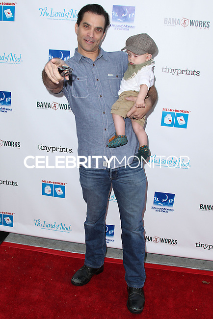 LOS ANGELES, CA, USA - APRIL 27: Johnathon Schaech, Camden Quinn Schaech at the Milk + Bookies 5th Annual Story Time Celebration held at the Skirball Cultural Center on April 27, 2014 in Los Angeles, California, United States. (Photo by Xavier Collin/Celebrity Monitor)