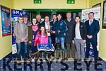 Paradise Marco winner of the GMHD Insurances Juvenile Classic final at the Kingdom Greyhound Stadium on Friday. Denis Murphy presented to Sean Meade. Pictured Tadhg Galvin, Sean Ahern, Megan Horgan, Jack Meade, Sarah Meade, Denis Murphy, Declan Dowling, Sean Meade, Donal Healy, Simon Galvin and Kieran Casey