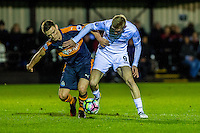 Monday 16 January 2017<br /> Pictured: Oli McBurnie Swansea City in action <br /> Re: During the Swansea City U23's match against Newcastle United U23's at the Landore Training facility, Swansea Wales UK