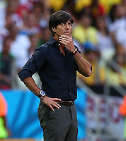 Germany coach Joachim Loew looks thoughtful on the touchline