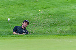 CROMWELL, CT. 20 June 2019-062019 - PGA Tour player Bubba Watson hits out of the bunker on the first hole, during the first round of the Travelers Championship at TPC River Highlands in Cromwell on Thursday. Bill Shettle Republican-American