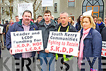 Patrick McCarthy, Niall Dennehy, Patrick Byrne, Norma Moriarty South Kerry Development Partnership held a Alignment Protest Meeting outside of the Kerry County Council Monthly Meeting on Monday