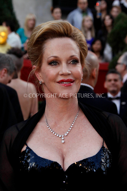 WWW.ACEPIXS.COM . . . . .  ....March 7 2010, Hollywood, CA....Actress Melanie Griffith at the 82nd Annual Academy Awards held at Kodak Theatre on March 7, 2010 in Hollywood, California.....Please byline: Z10-ACE PICTURES... . . . .  ....Ace Pictures, Inc:  ..Tel: (212) 243-8787..e-mail: info@acepixs.com..web: http://www.acepixs.com