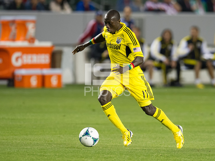 CARSON, CA - March 2, 2013: Columbus midfielder Dominic Oduro (11) during the Chivas USA vs Columbus Crew match at the Home Depot Center in Carson, California. Final score, Chivas USA 0, Columbus Crew 3.
