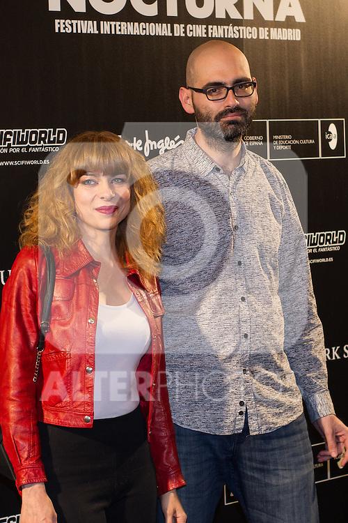 Alicia Montesquieu and Jonh Tones at Nocturna, the international festival of fantastic cinema of Madrid. May 23,2016. (ALTERPHOTOS/Rodrigo Jimenez)