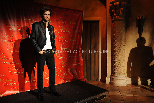 WWW.ACEPIXS.COM . . . . . ....March 25 2010, New York City....A waxwork figure of Robert Pattinson is unveiled at Madame Tussauds on March 25, 2010 in New York....Please byline: KRISTIN CALLAHAN - ACEPIXS.COM.. . . . . . ..Ace Pictures, Inc:  ..tel: (212) 243 8787 or (646) 769 0430..e-mail: info@acepixs.com..web: http://www.acepixs.com