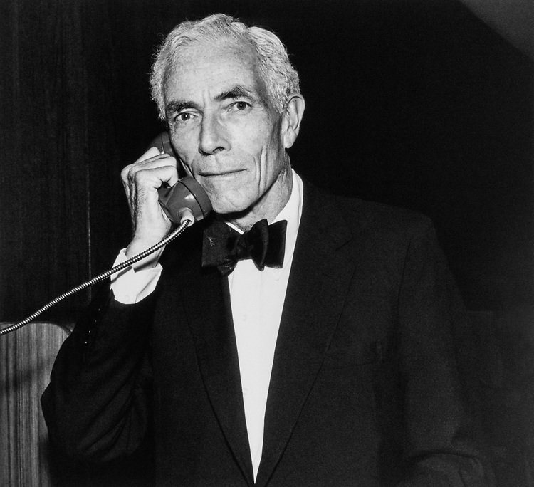 Sen. Claiborne Pell, D-R.I., talking on a telephone. (Photo by Laura Patterson/CQ Roll Call)