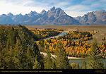 Snake River, Grand Tetons, Cathedral Group, Mount St. John, Grand Teton National Park, Wyoming
