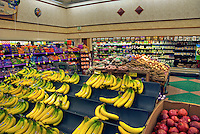 Produce Department, Fruit, Bananas, Apples, Potatoes, Packaged food