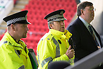 St Johnstone v Celtic.....26.12.13   SPFL<br /> Supt Kevin Lynch briefs police officers and stewards prior to kick off at McDiarmid Park.<br /> Picture by Graeme Hart.<br /> Copyright Perthshire Picture Agency<br /> Tel: 01738 623350  Mobile: 07990 594431