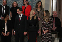 Senior Advisor Jared Kushner, First Daughter and Advisor to the President Ivanka Trump, and Lara Trump stand in the gallery prior to the arrival of First lady Melania Trump in anticipation of United States President Donald J. Trump delivering his second annual State of the Union Address to a joint session of the US Congress in the US Capitol in Washington, DC on Tuesday, February 5, 2019.<br /> Credit: Alex Edelman / CNP/AdMedia