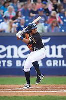 Wilmington Blue Rocks designated hitter Joshua Banuelos (13) at bat during a game against the Lynchburg Hillcats on June 3, 2016 at Judy Johnson Field at Daniel S. Frawley Stadium in Wilmington, Delaware.  Lynchburg defeated Wilmington 16-11 in ten innings.  (Mike Janes/Four Seam Images)