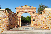 The entrance of the famous mansion Argentikon in Chios island, Greece