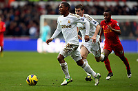 Sunday, 25 November 2012<br /> Pictured: Jonathan de Guzman (L), Ben Davies (C) and Raheem Sterling (R).<br /> Re: Barclays Premier League, Swansea City FC v Liverpool at the Liberty Stadium, south Wales.