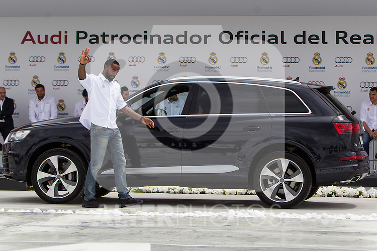 Jeffery Tylor during the Audi Car delivery, at the basketball players of the Real Madrid. May 25,2016. (ALTERPHOTOS/Rodrigo Jimenez)