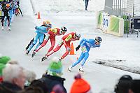 SCHAATSEN: NOORDLAREN: 18-01-2017, IJsvereniging De Hondsrug, de eerste marathon op natuurijs van 2017, ©foto Martin de Jong