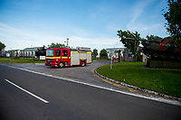 "Wednesday 14 June 2017<br /> Pictured: Emergency Services leave the training base <br /> Re: Paramedics and a fire crews are in attendance at what has been describes as an ""ongoing incident"" at a military training base in Pembrokeshire.<br /> The Welsh Ambulance Service said it was alerted to an incident at the Castlemartin firing range just before 15:30 BST on Wednesday.<br /> The range is owned by the Ministry of Defence (MOD) Live firing was due to take place at the range from Monday to Friday.<br /> Mid and West Wales Fire and Rescue Service is also in attendance.<br /> Castlemartin is the only UK Army range normally available for direct-fire live gunnery exercises and is used by Army, Army reserves and cadets.<br /> It is also used by civilian organisations and research establishments."