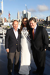 Samuel Cooperman of World Yacht, MISS UNIVERSE, OLIVIA CULPO and Jason Hackett of circle line CELEBRATED HER 21ST BIRTHDAY WITH A TOAST ABOARD WORLD YACHT, NY