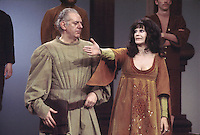 "- Dario Fo and his wife Franca Rame in the comedy ""Christopher Columbus"" (1977)....- Dario Fo e la moglie Franca Rame nella commedia  ""Cristoforo Colombo"" (1977)"