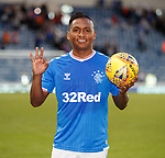 18.07.2019: Rangers v St Joseph's: Alfredo Morelos with the matchball after his hat-trick