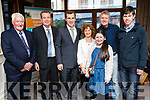 Gavin Lyne who won the National Skills Competition in Motor Mechanics in CIT, also pictured at the Kerry ETB Certificate Ceremony held at the Rose Hotel, Tralee, were l-r: Liam Walsh, James Lyne, Gavin Lyne, Mary Lyne and Jennifer Lyne with Tom O'Reilly (Senior Training Advisor Kerry ETB) and Darragh Lyne.