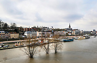 Nederland Nijmegen 2016 02 25. Hoog water in de Waal.  Foto Berlinda van Dam / Hollandse Hoogte