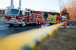MIDDLEBURY,  CT-122716JS06--Middlebury firefighters battled a fatal fire in a two-family home at 165 Whittemore Road in Middlebury on Tuesday. <br /> Jim Shannon Republican-American