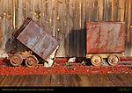 1860s Gold Ore Carts, Iron Horse Bar & Grille, Gardiner, Montana