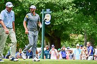 Dustin Johnson (USA) departs the 2nd tee during Saturday's round 3 of the PGA Championship at the Quail Hollow Club in Charlotte, North Carolina. 8/12/2017.<br /> Picture: Golffile | Ken Murray<br /> <br /> <br /> All photo usage must carry mandatory copyright credit (&copy; Golffile | Ken Murray)