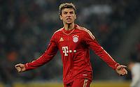 FUSSBALL   1. BUNDESLIGA   SAISON 2011/2012   18. SPIELTAG Borussia Moenchengladbach - FC Bayern Muenchen    20.01.2012 Thomas Mueller (Bayern) ist enttaeuscht xxNOxMODELxRELEASExx