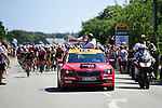 The start of Stage 5 of the 2018 Tour de France running 204.5km from Lorient to Quimper, France. 11th July 2018. <br /> Picture: ASO/Pauline Ballet | Cyclefile<br /> All photos usage must carry mandatory copyright credit (&copy; Cyclefile | ASO/Pauline Ballet)