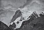 Yerupaja in Clouds, Cordillera Huayuash, Peru