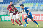 Suwon Midfielder Yeom Ki Hun (R) fights for the ball with Guangzhou Midfielder Zheng Zhi (L) during the AFC Champions League 2017 Group G match Between Suwon Samsung Bluewings (KOR) vs Guangzhou Evergrande FC (CHN) at the Suwon World Cup Stadium on 01 March 2017 in Suwon, South Korea. Photo by Victor Fraile / Power Sport Images